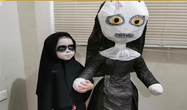 Menina de 3 anos escolhe tema de filme de terror para sua festa de aniversário e viraliza.