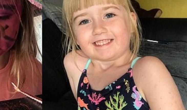 Garotinha com somente 5 anos tenta copiar maquiagem de sua mãe e resultado é engraçado.
