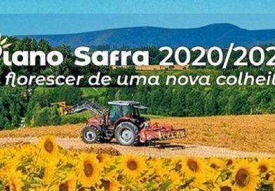 Plano Safra 2020/2021 traz mais recursos e taxas de juros menores para agricultura familiar.